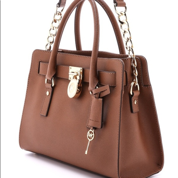 7e39e8826fd3 Michael Kors Large Brown Hamilton Purse. M 5b9b24ee3c9844d0bf29b968